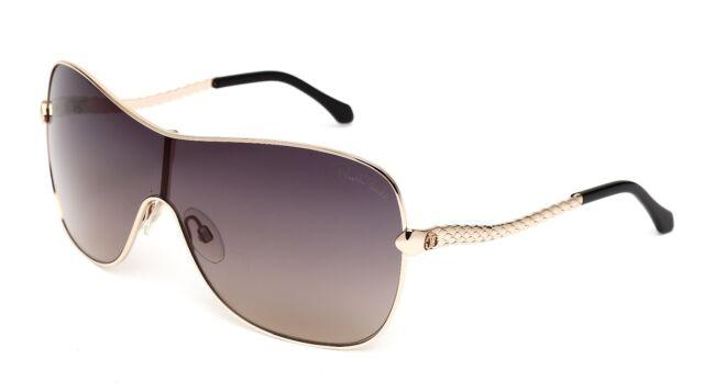 hot sale online best website timeless design Roberto Cavalli 793S Agena Women's Gold Black Shield Sunglasses 1214