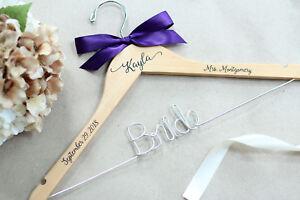 Wedding Hanger, Bride Decal Personalized Hanger, Mrs Hanger