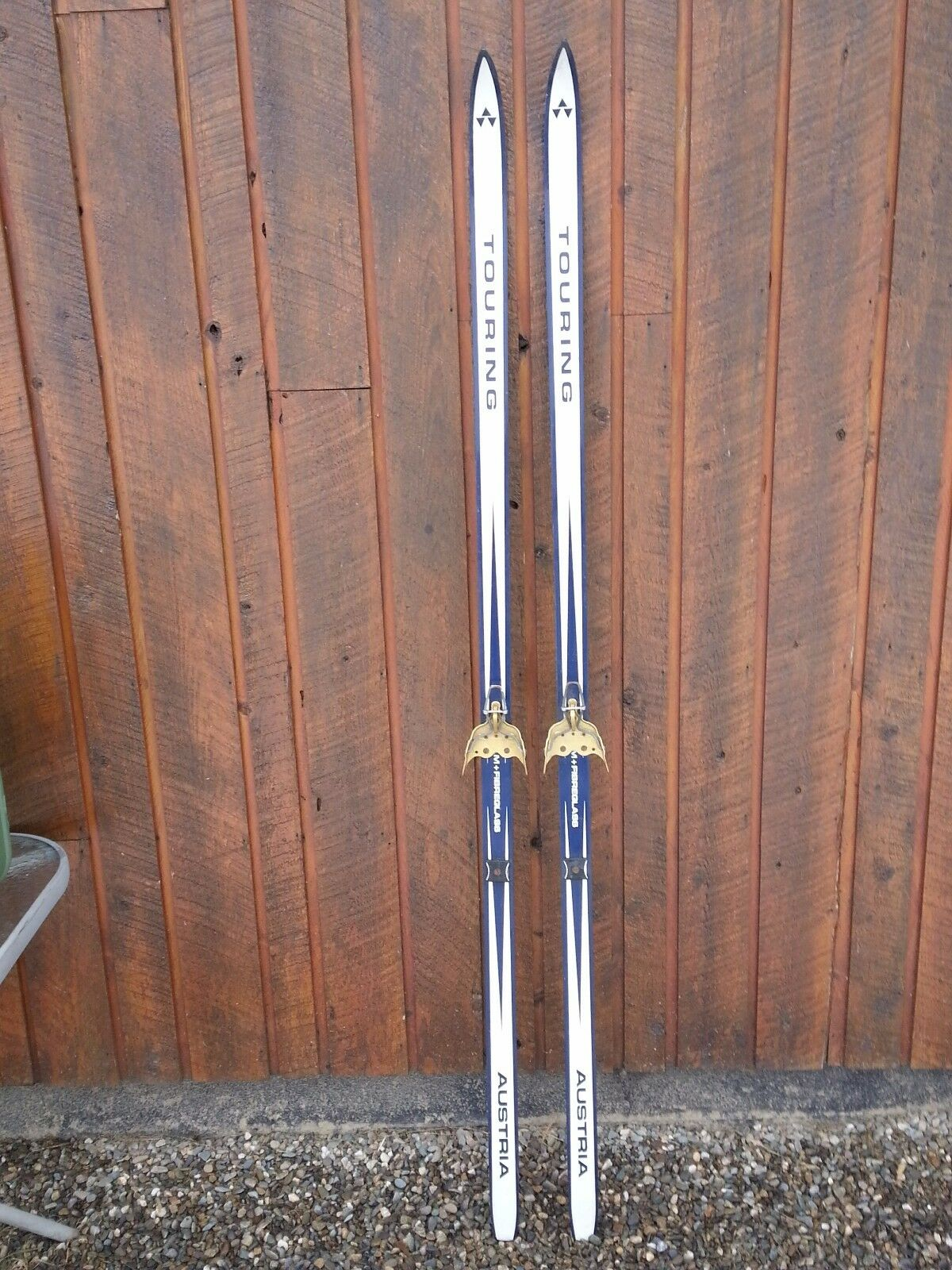 OLD Interesting Vintage Wooden 72   Long Skis blueE + WHITE Finish Signed TOURING  good reputation