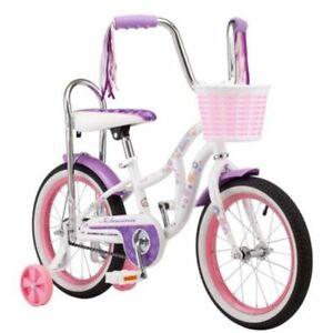 Girls-Schwinn-Bicycle-16-034-Wheel-Learning-Bike-w-Sissy-Bar-Basket-and-Streamers
