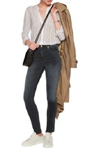 Rag & Knochen Dive Hohe Größe Tasche Schatten Skinny Jeans Clean Steele- 25  ️