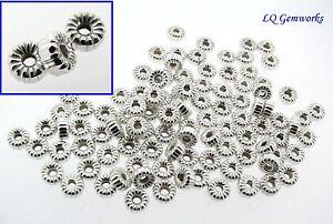 50 Boucle D'oreille Argent Sterling 4mm Ondulé Rondelle Perles 8wxrzcd6-07224041-162940474