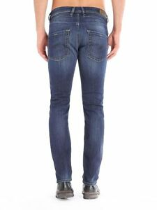949bbd98 Image is loading Diesel-Jeans-Belther-Fit-Tapered-0814W-Regular-dark-