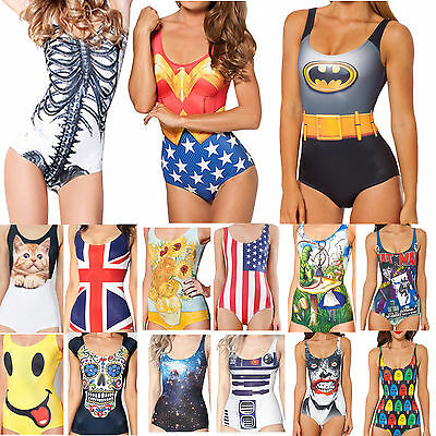 Sexy Women's Swimwear Digital Printing One-Piece Bikini Swimsuit Beachwear Dress