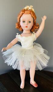 Rare-1951-Madame-Alexander-Redhead-Nina-Ballerina-14-034-doll-In-Tagged-Outfit
