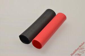 Schrumpfschlauch-PolyOlefine-geschnitten-rot-u-schwarz-verschiedene-Groessen