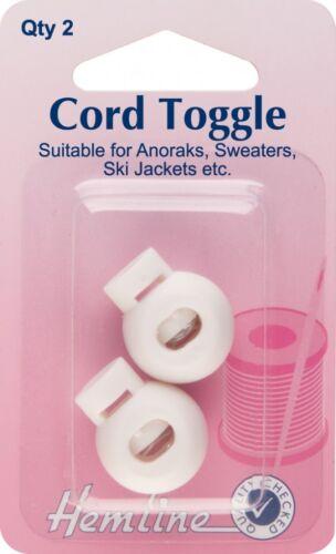 H459-M per pack Hemline Cord Spring Toggle Fasteners