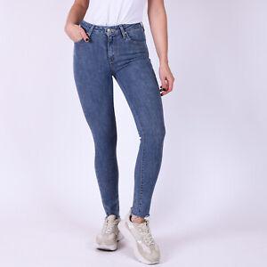 Levi-039-s-721-High-Rise-Skinny-Blau-Damen-Jeans-DE-32-W25-L30