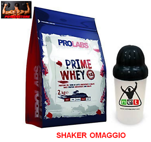 PROLABS PRIME WHEY 2 / 4 KG  WHEY PROTEINE SIERO DEL LATTE ISOLATE e CONCENTRATE