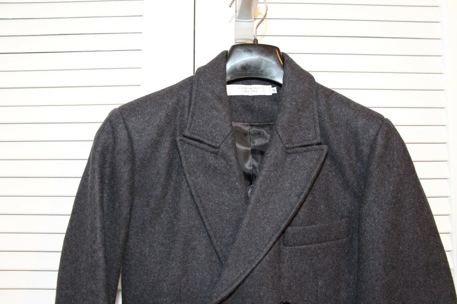 Shades of grigio by Micah Slim Cohen Wool Blend Slim Micah Fit Charcoal grigio Blazer Excellent ac7747