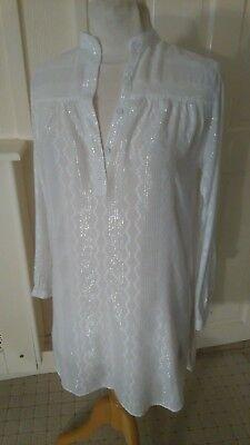 2 Topshop Vintage 80s A Righe Camicia Blusa O Beachcover Fino 1 Nuovo 1 Usato-mostra Il Titolo Originale Gradevole Al Gusto