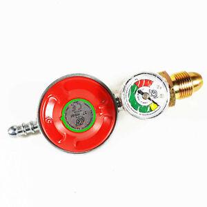 Propane-Gas-Regulator-Gauge-Caravan-Motorhome-37mbar-Fits-Color-Gas-Bottles