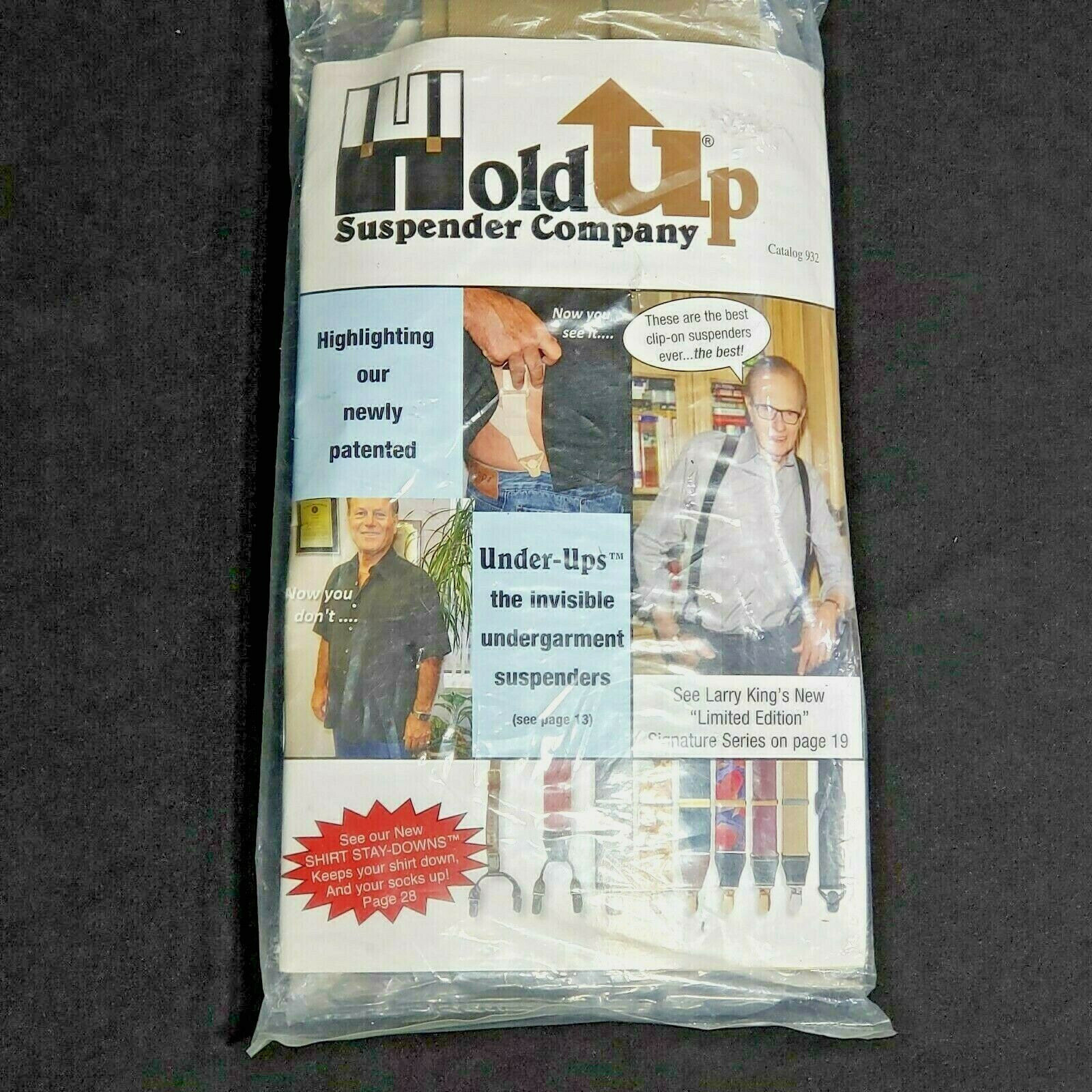Hold Up Suspenders Sand Dunes Lgt Tan Double-Ups Style w/ Patented No-Slip Clips