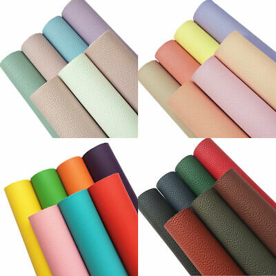 7pcs A4 Pack Bundle Sparkle Glitter Mixed Lichee Vinyl Fabric Craft Faux Leather