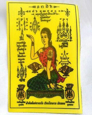 PHA YANT NANG KWAK THAI AMULET TALISMAN FOR FORTUNE CALL MONEY CHARM SUCCESS WHI