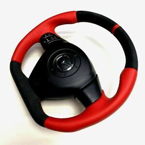 Fondo-plano-Volante-Mazda-RX8-rojo-cuero-y-Alcantara-Red-Stripe