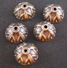 60pcs Antiqued Copper Corolitic Beads Caps 9mm T163C