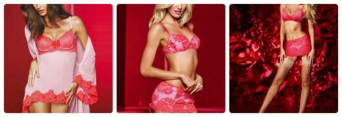 Of U Victoria's Roze Set 34c Pick Secret Gewaad Slip Kanten en Nwt Kristal Beha 66axr