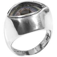 Glass Eyeball Metal Ring