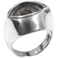 Glass Eyeball Metal Ring