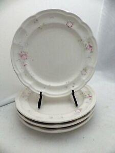 Pfaltzgraff-Tea-Rose-pattern-set-lot-of-4-Luncheon-plates-9-1-4-034-EUC