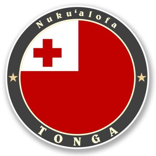 2 X nuku/'alofa Tonga Pegatina de vinilo Laptop Viaje Equipaje Coche #5095