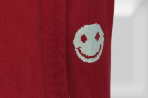 100/% CASHMERE SMILE-FB Rosso-Taglia 36-44 Maglione di cashmere marchio hemisphere