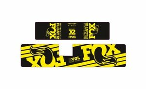FOX Float X2 2021 Rear Shock Suspension Sticker Factory Decal Kit Adhesiv Yellow