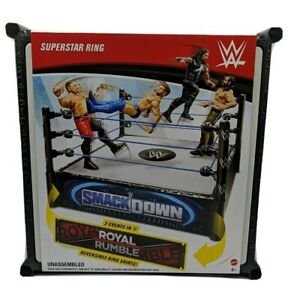 Details about WWE Superstar Ring W/ Smackdown Live Royal Rumble 2 in 1 Reversible Ring Skirt