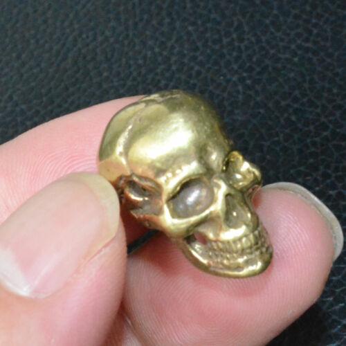 2Pcs New Skull Bead Brass Copper casting DIY Pendant Key pendant Bracelet Size S