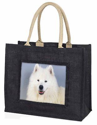 SAMOJEDE Hund große schwarze Einkaufstasche Weihnachten Geschenkidee, ad-so76blb