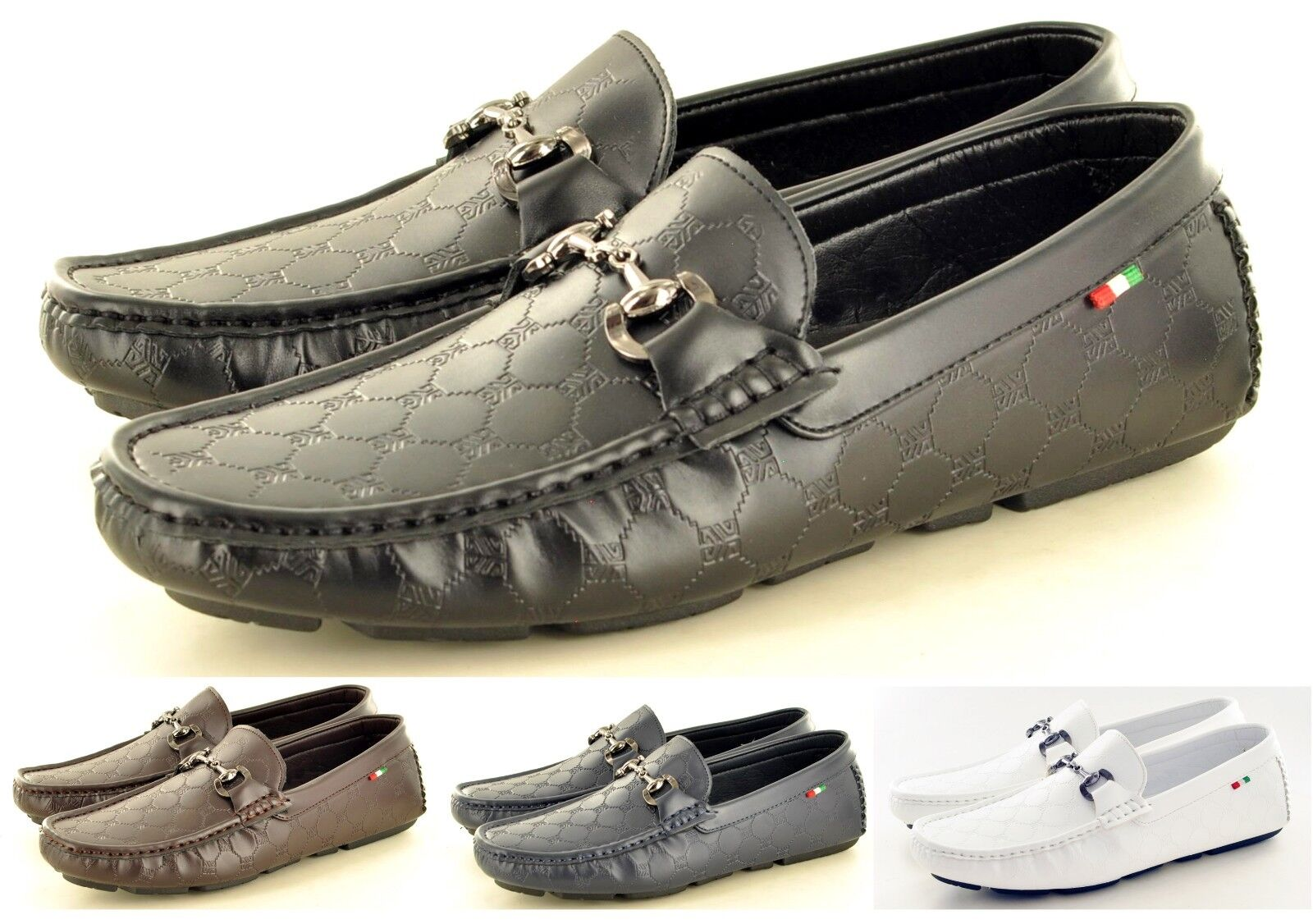 New Mens leather LOOK Casual Shoes Loafers Moccasins Slip on Shoes Casual Avail UK Sizes 6-11 338547