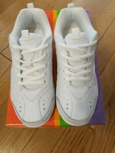 Stride-Rite-Cooper-Shoes-Lace-Up-Kids-Boys-Size-12-5-Wide-White-Sneakers