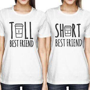 141a7a778e2 Cute Best Friend Tall and Short Matching T-Shirt BFF Shirts For ...