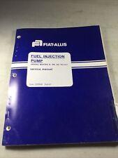 Fiat Allis Roosa Master D Db Dc Fuel Injection Pump Service Manual