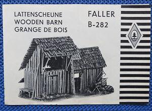 Faller-AMS-Original-Anleitung-fuer-B-282-Lattenscheune