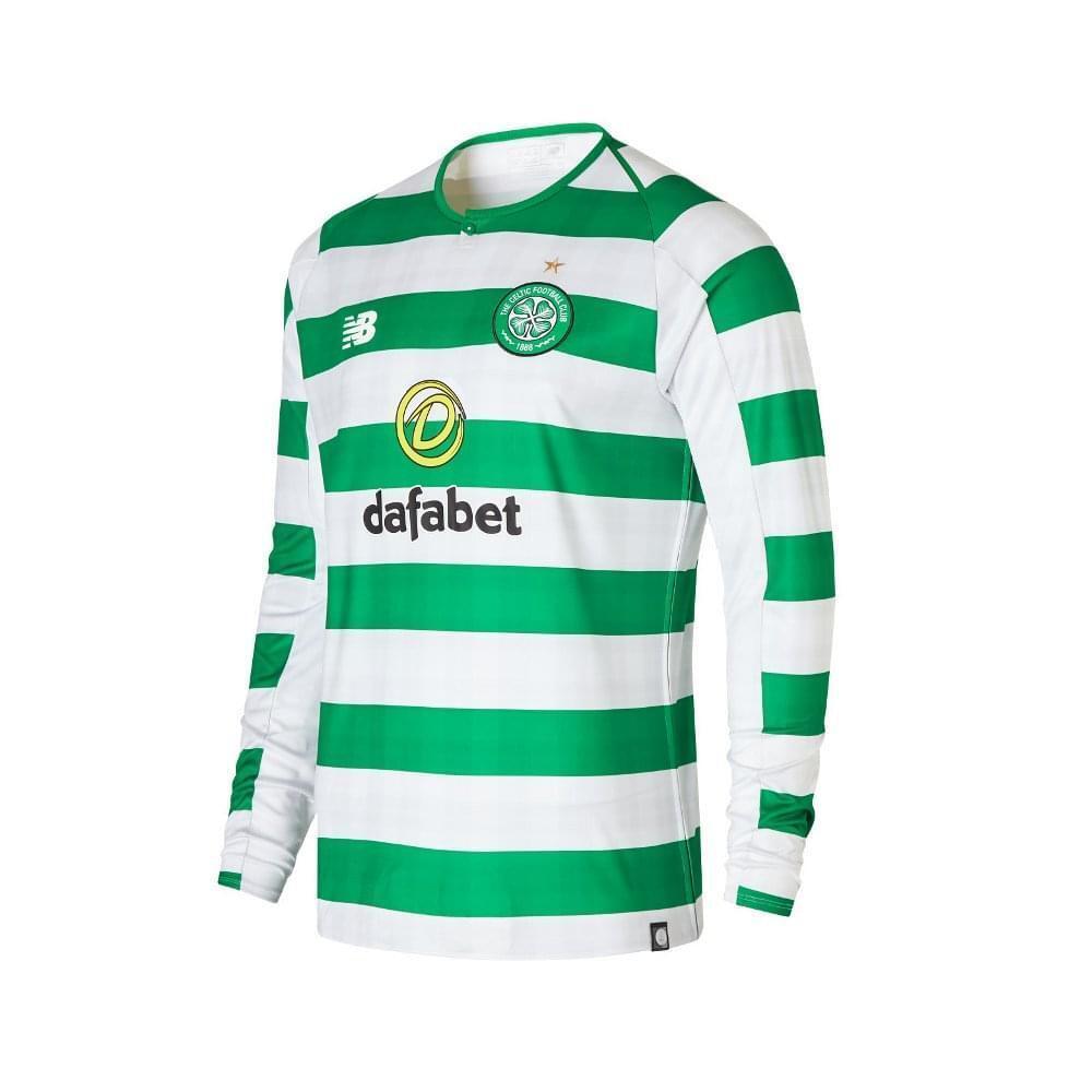 New Balance Celtic Home Herren Long Sleeve Jersey 2018 2019