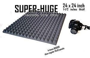 ENORMOUS-1-1-2-inch-24x24-PYRAMID-Soundproofing-Studio-Foam-Acoustic-Panel