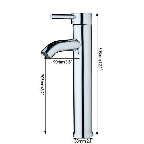 US Bathroom Vessel Basin Single Hole Deck Mount Faucet 1 Handle Taps Deck Mount