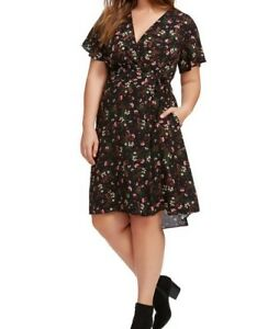 ea0adeee65a3a Image is loading City-Chic-Pretty-Floral-Crepe-Wrap-Dress-Size-