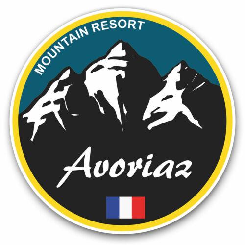 2 x Vinyle Autocollants 7.5 cm-Avoriaz Ski Snowboard Resort France Cool Cadeau #5318