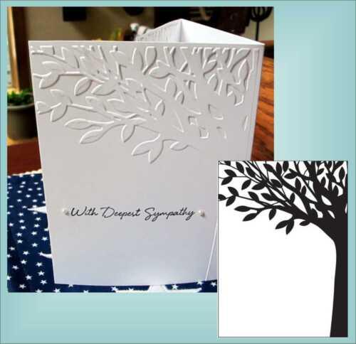 Tree Embossing Folder Leafy Branch Darice Craft Folders 1217-40