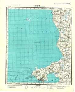 Denmark Topographic Map.Russian Soviet Military Topographic Maps Halsskov Denmark 1