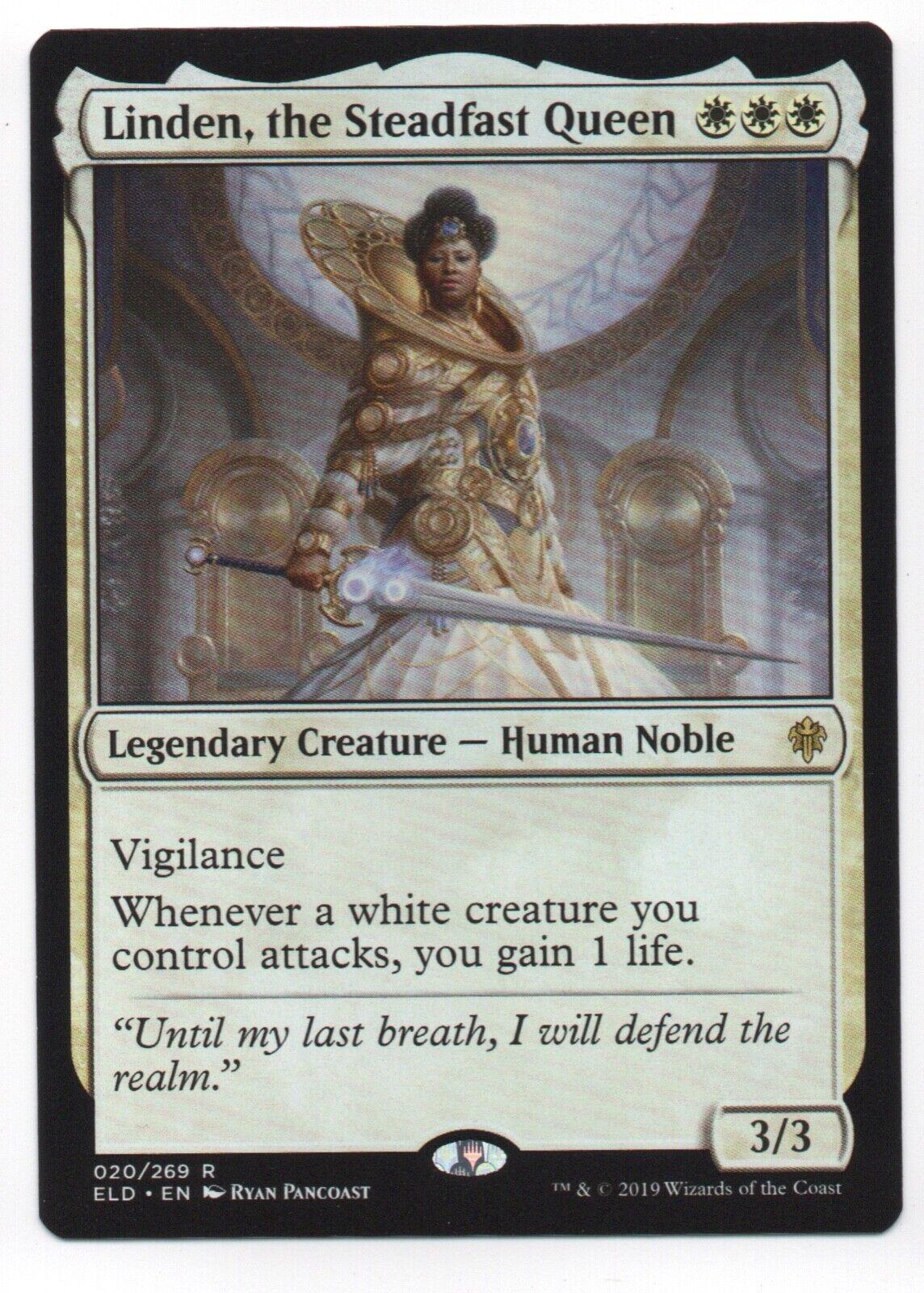 Throne of Eldraine Mtg x4 4x ELD Magic the Steadfast Queen 020 Linden