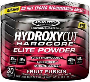 Muscletech Hydroxycut Hardcore Elite Powder 30 Servings Fruit Fusion