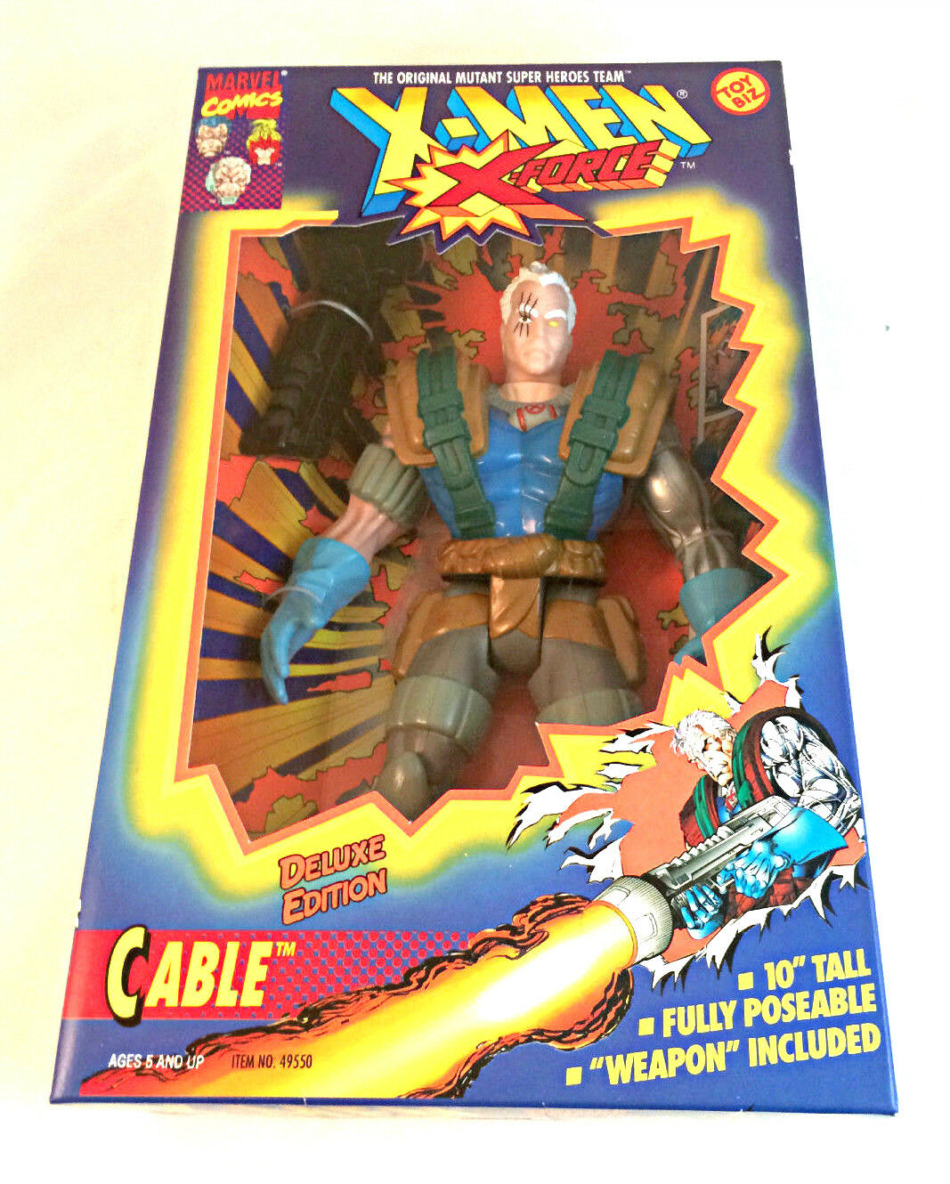 CABLE ACTION FIGURE - 10  -  X-MEN - DELUXE EDITION - NEVER OPENED TOYBIZ -1994