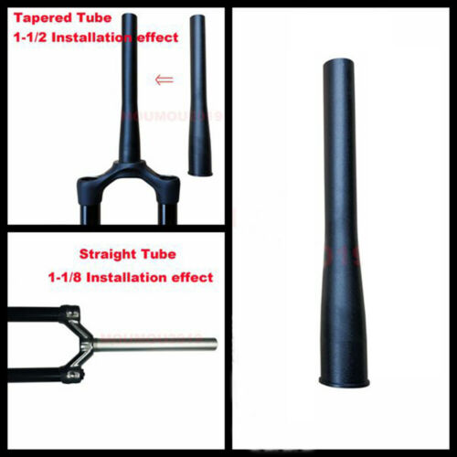 1-1/2 To 1-1/8 Bicycle Tapered Steerer Tube/Fork Head Taper Tube Aluminum Alloy
