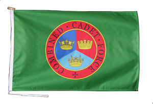 Combined Cadet Force CCF Flag With Rope and Toggle - Various Sizes