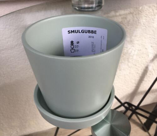 Grün für draußen 9 cm.//9cm.H Ikea SMULGUBBE Blumentopf mit Untersetzer