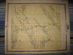 Fayette Iowa Map.Antique 1875 Chickasaw County Iowa Falls State Center Fayette Lawler